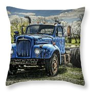 Big Blue Mack Throw Pillow