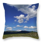 Big Blue Sky  Throw Pillow