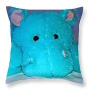 Big Blue Teddy Throw Pillow