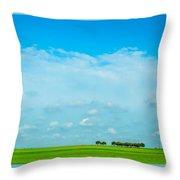 Big Blue Texas Sky Throw Pillow