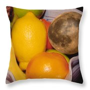 Big Bowl Of Fruit Throw Pillow
