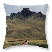 Big Boy Ranch Throw Pillow