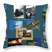 Big Boy Toys Photography Services Throw Pillow