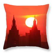 Big Bright Sun Throw Pillow
