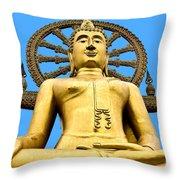 Big Buddah Throw Pillow