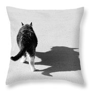 Big Cat Ferocious Shadow Monochrome Throw Pillow by James BO  Insogna