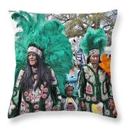 Big Chief Monk Boudreaux Throw Pillow