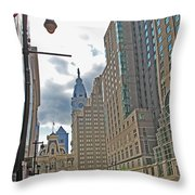 Big City Streets Throw Pillow