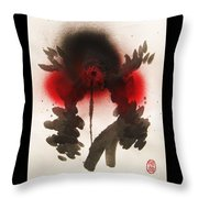 Big Crow Black And Spiky Throw Pillow