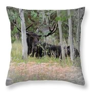 Big Daddy The Moose 1 Throw Pillow