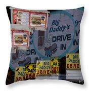 Big Daddy's Drive Inn Auburn Wa Throw Pillow