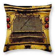 Big Dump Truck Grille Throw Pillow