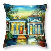 Big Easy Moon Throw Pillow by Diane Millsap