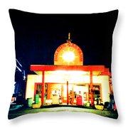 Big Ed's Gas Farm Throw Pillow