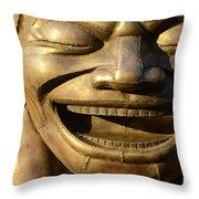 Big Face Climber Throw Pillow