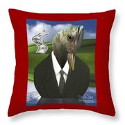 Big Fish Little Pond Throw Pillow