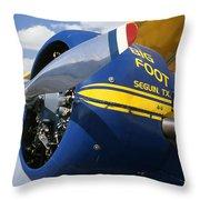 Big Foot Biplane Throw Pillow