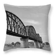 Big Four Bridge Bw Throw Pillow