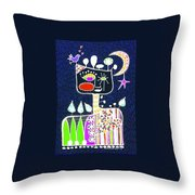 Big Hearted Blue Throw Pillow