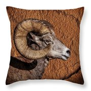 Big Horn Throw Pillow