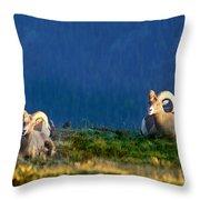 Big Horns Throw Pillow