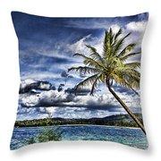 Big Island Beaches V2 Throw Pillow