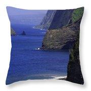 Big Island Cliffs  Throw Pillow