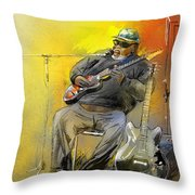 Big Jerry In Memphis Throw Pillow