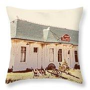 Big L Railroad Station Throw Pillow