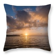 Big Lagoon Winter Evening Throw Pillow