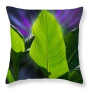 Big Leaves Throw Pillow