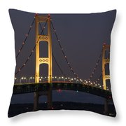 Big Mackinac Bridge 55 Throw Pillow