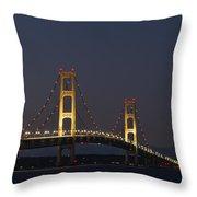 Big Mackinac Bridge 56 Throw Pillow