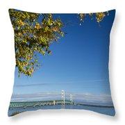 Big Mackinac Bridge 57 Throw Pillow