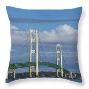 Big Mackinac Bridge 59 Throw Pillow