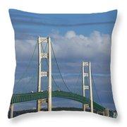 Big Mackinac Bridge 61 Throw Pillow