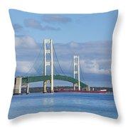 Big Mackinac Bridge 65 Throw Pillow