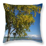 Big Mackinac Bridge 67 Throw Pillow