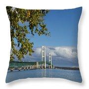 Big Mackinac Bridge 68 Throw Pillow