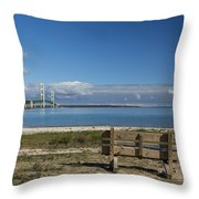 Big Mackinac Bridge 70 Throw Pillow