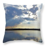 Big Marsh Sunset Throw Pillow