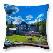 Big Moose Inn - Eagle Bay New York Throw Pillow