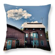 Big Moose Inn Located In Eagle Bay Ny Throw Pillow
