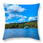 Big Moose Lake In The Adirondacks Throw Pillow