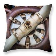 Big Motor Vintage Vintage Aircraft Throw Pillow