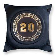 Big Number 20 Throw Pillow