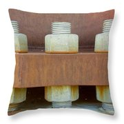 Big Nuts And Bolts Throw Pillow