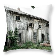 Big Old Barn - Rustic - Agricultural Buildings Throw Pillow by Gary Heller