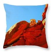 Big Orange Rock Throw Pillow