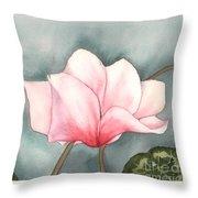 Big Pink Cyclamen Throw Pillow